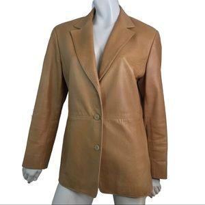 Lafayette 148 New York Leather Jacket Blazer 12